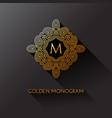 golden monogram vector image vector image