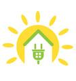 green energy and alternative energy vector image