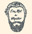 hipster hair and beard vintage design poster vector image