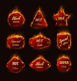 hot sale burning fire flame black friday shop vector image vector image