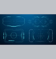 hud futuristic frame game target borders sci-fi vector image vector image