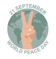 international day peace concept vector image