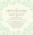 Invitation with pattern olive branch vector image vector image
