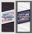 layouts for columbus day vector image vector image