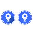 location mark round flat icon gps pointer mark vector image vector image
