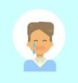 male cry emotion profile icon man cartoon vector image