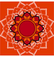 mandala patterns on orange background vector image vector image