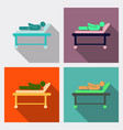 medical moving patient on stretcher vector image vector image
