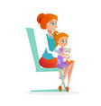 mother with daughter in pediatrician appointment vector image vector image