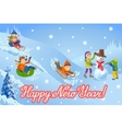 new year congratulation vector image vector image