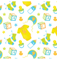 Pattern Childrens clothes vector image vector image