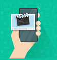 person man with video movie content creation vector image