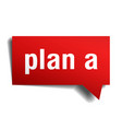 plan a red 3d speech bubble vector image vector image