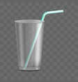 red plastic disposable cup takeaway drink vector image vector image