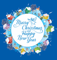 Round banner Christmas vector image