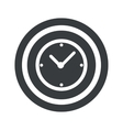 Round black clock sign vector image vector image