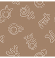 seamless background with the astronomical symbols vector image vector image