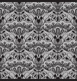 seamless detailed lace pattern on white background vector image vector image
