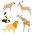 set 2 cartoon african animals vector image
