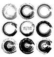 set grunge circles grunge round shapes vector image vector image