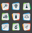 set of simple salon icons vector image vector image