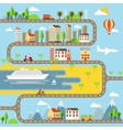 Small Town Cityscape vector image vector image