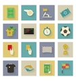 Soccer flat icons set with shadows vector image