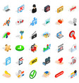 spam letter icons set isometric style vector image vector image