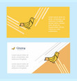 sparrow abstract corporate business banner vector image