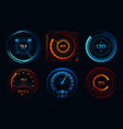 speedometer indicators power meters fast or slow vector image vector image