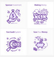 sponsor investment concept icon making money vector image vector image