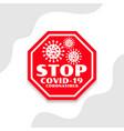 stop coronavirus covid-19 spread symbol design vector image vector image