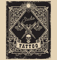 Tattoo studio poster template crossed tattoo