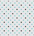 tile pattern with black and mint blue polka dots vector image vector image