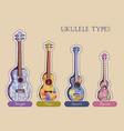ukulele types vector image vector image