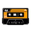 vintage colorful audio cassette concept vector image vector image