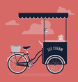 Vintage Ice Cream Cart vector image