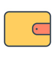 wallet line icon 48x48 simple minimal pictogram vector image vector image