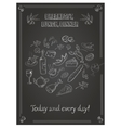 vintage breakfast lunch and dinner poster with vector image