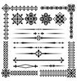 set vintage design element vector image