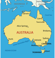Commonwealth of Australia - map vector image