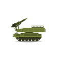 anti-aircraft missile system rockets and shells vector image vector image