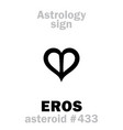 astrology asteroid eros vector image vector image