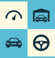 auto icons set collection of chronometer drive vector image