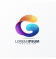awesome letter g logo design vector image vector image