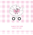 baby carriage with a teddy bear vector image vector image