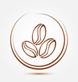 Brown coffee beans symbol vector image vector image