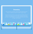 chemistry web banner with place for text vector image