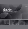 circle abstract background - black vector image
