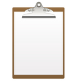 clipboard and paper vector image